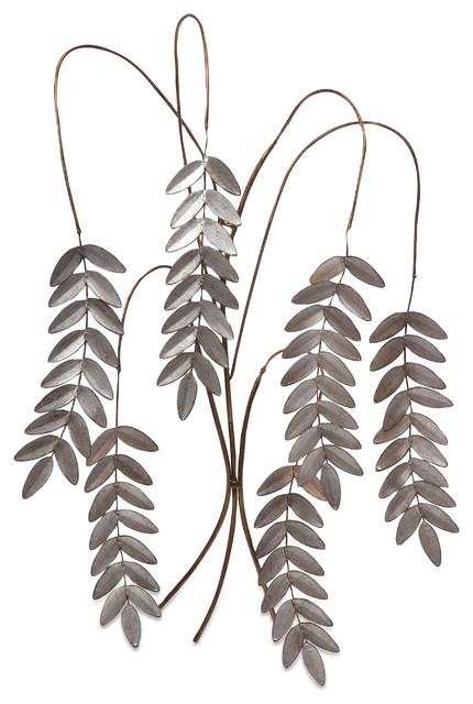 Meyeul Silver Leaf Wall Hanger contemporary-home-decor