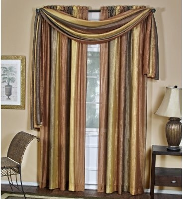 Achim Ombre Window Scarf - modern - curtains - by Hayneedle