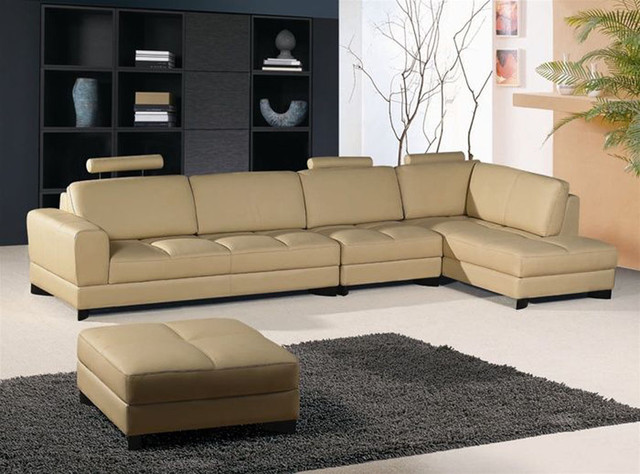Exclusive Leather Curved Corner Sofa Modern Sofas