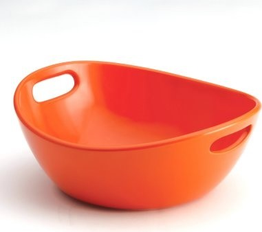 Rachael Ray Stoneware 10 in. Veggie Bowl - Orange modern-serving-utensils