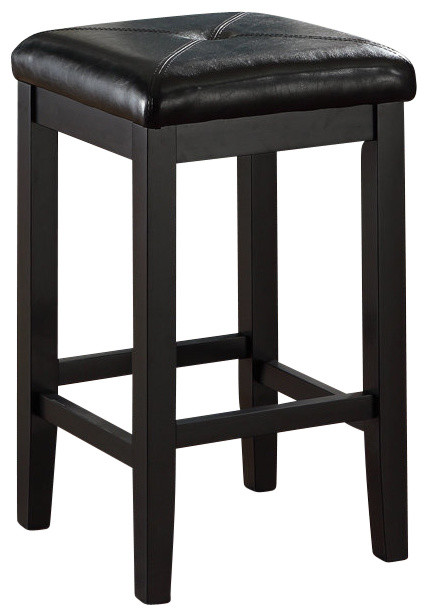 Crosley Furniture Upholstered Square Seat 24 Inch Barstool