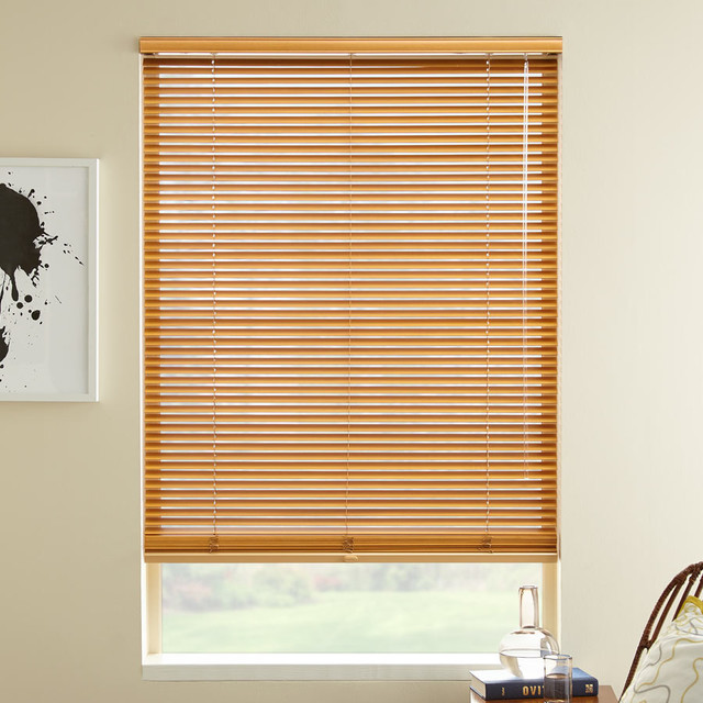 """1"""" Veneto Wood Blinds contemporary-window-blinds"""