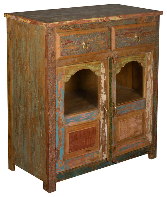 Arts & Crafts Rustic Reclaimed Wood Sideboard Buffet Cabinet rustic-buffets-and-sideboards