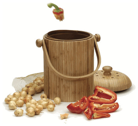 Bamboo Compost Pail Contemporary Compost Bins By Chef 39 S Resource