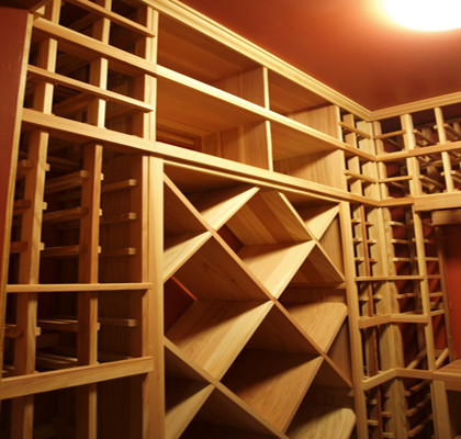 Semi Custom Residential Wine Cellar Project in South Salem New York traditional