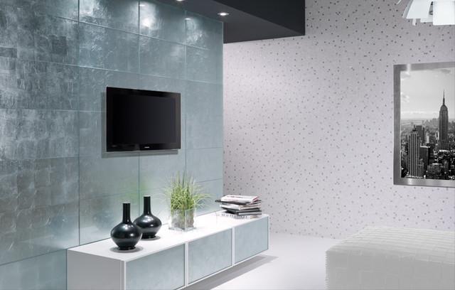 Pan de Plata - Dune - 12x24 glass tile contemporary-tile