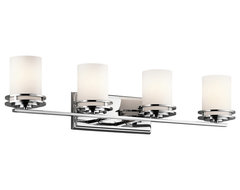 Kichler Lighting 5079CH Hendrik Chrome 4 Light Vanity contemporary bathroom lighting and vanity lighting