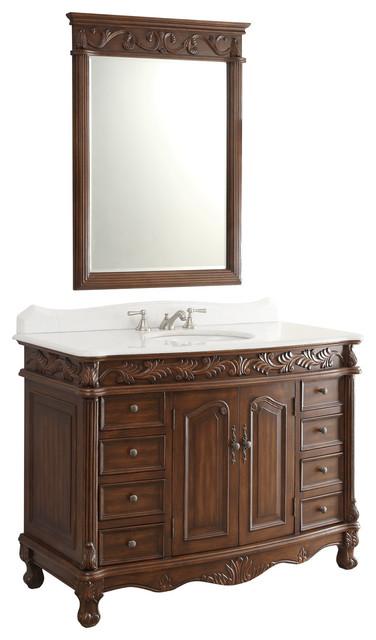 48 florence bathroom sink vanity with mirror victorian