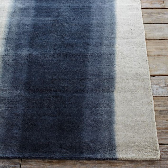 Ombr 233 Dye Rug Midnight Contemporary Rugs By West Elm