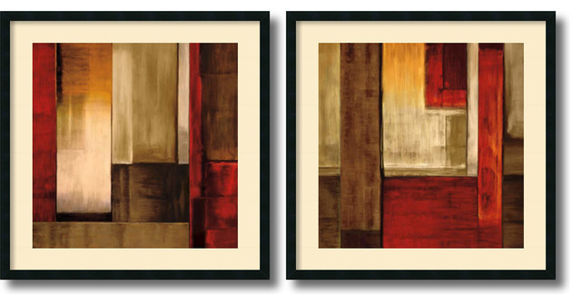 Aaron Summers 'Crossover- set of 2' Framed Art Print 34 x 34-inch Each contemporary-artwork