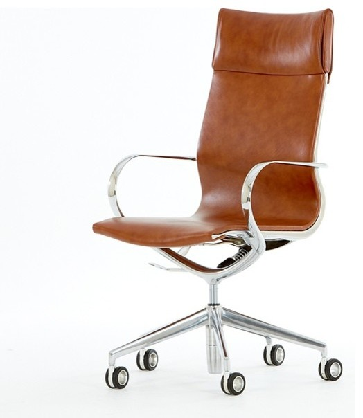 Mercury high back leather office chair modern office for Modern leather office chairs