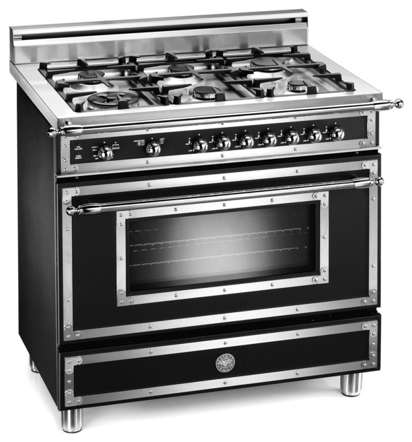 "24 Double Wall Ovens Bertazzoni Heritage 36"" 6-Burner Gas Range - Traditional ..."
