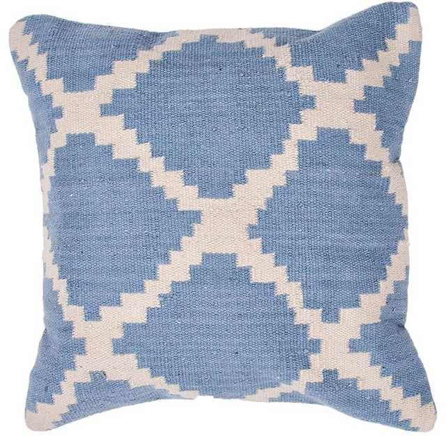 Jaipur Seville Sky Blue Throw Pillow - Contemporary - Decorative Pillows - by purehome