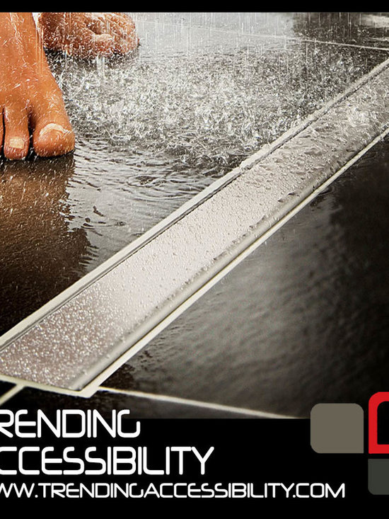 Trending Accessibility - Linear Shower Pans and Drains -