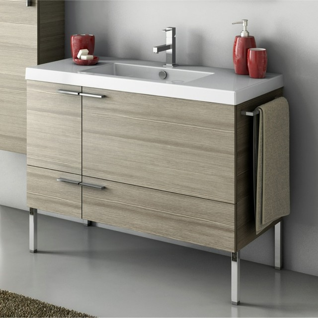 39 inch vanity cabinet with fitted sink contemporary bathroom vanities