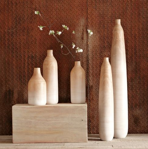 Wooden Ombre Vases contemporary-vases