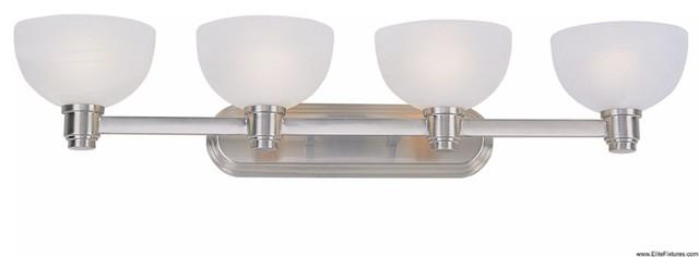 Z Lite 314 4V 4 Light Up Lighting Bathroom Fixture With Glass Round Shade transitional-bathroom-lighting-and-vanity-lighting