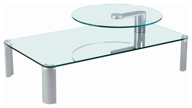 Two Tier Motion Glass Cocktail Table coffee-tables
