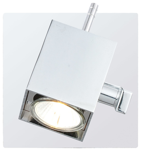1x50W Track Wall Light, Chrome Finish - Modern - Outdoor Wall Lights And Sconces - by EGLO USA