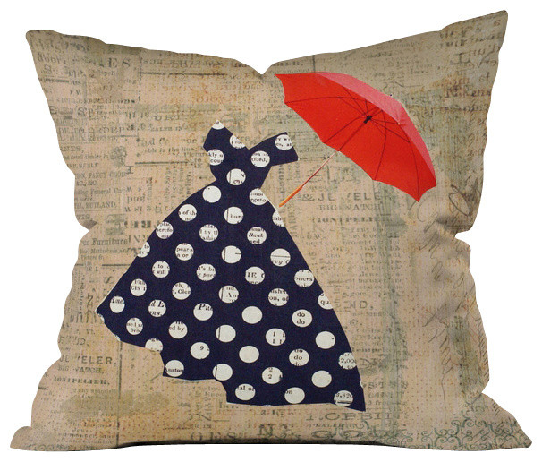Extra Big Throw Pillows : Red Umbrella Throw Pillow, Extra Large - Contemporary - Decorative Pillows - by YOLO Interiors