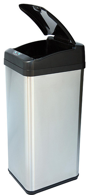 iTouchless 13-gallon Square Extra-wide Opening Trash Can contemporary-trash-cans