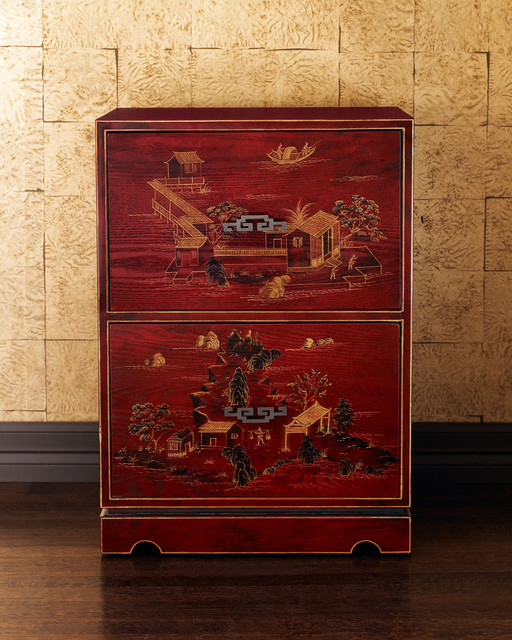 Chinoiserie File Cabinet - Asian - Filing Cabinets - by Horchow