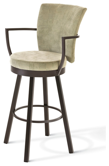 Amisco Cardin Upholstered Back Swivel Stool with Arms  : contemporary bar stools and counter stools from www.houzz.com size 422 x 640 jpeg 41kB