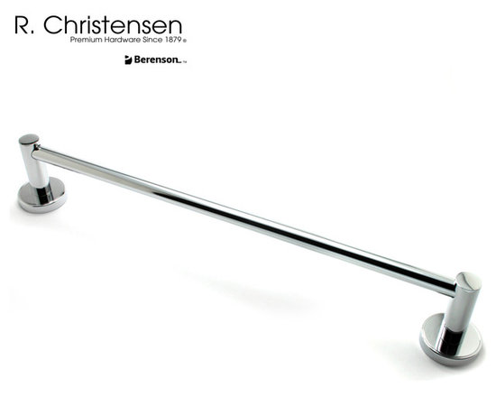 "2218US26 Polished Chrome Towel Bar by R. Christensen - 30"" contemporary style towel bar by R. Christensen in Polished Chrome."