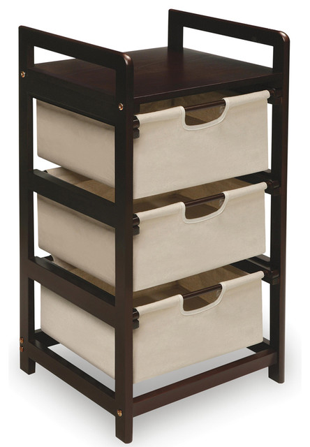 Espresso 3 Drawer Storage Unit Contemporary Closet Organizers By Overstock Com