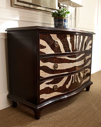 Zebra Chest modern dressers chests and bedroom armoires
