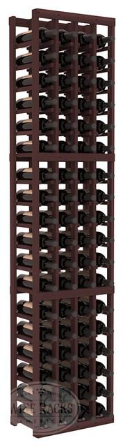 4 Column Standard Cellar Kit in Redwood with Walnut Stain traditional-wine-racks
