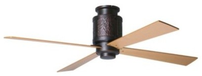 Bodega Hugger Ceiling Fan with Optional Light by Period Arts ceiling-fans