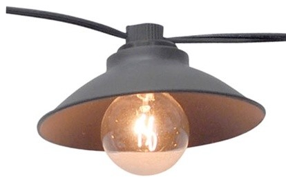 Smith & Hawken Metal Pendant String Lights - Contemporary - Outdoor Lighting - by Target