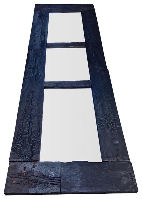 Burnt ft tall split mirror rustic wall mirrors by