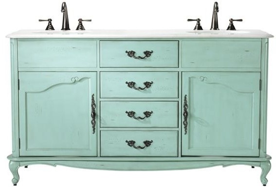 Sink Vanity, Blue  Traditional  Bathroom Vanities And Sink Consoles