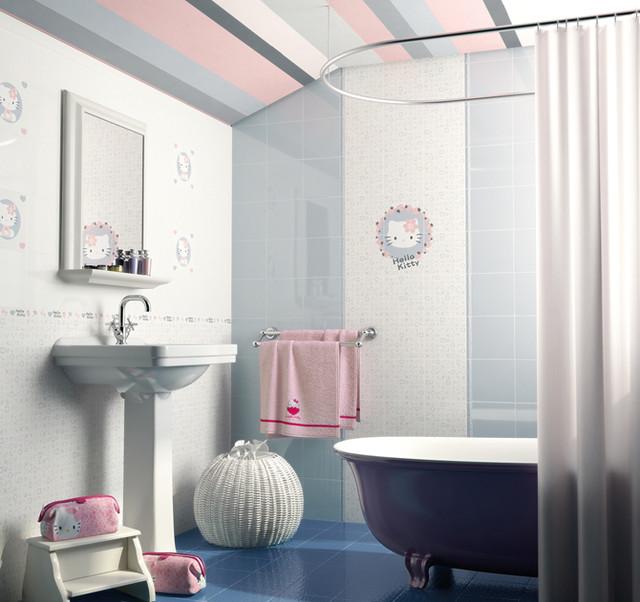 Amazing Hello Kitty Bathroom Tiles  Decorating Clear