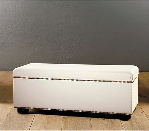 Amelia Storage Bench Traditional Upholstered Benches By Ballard Designs