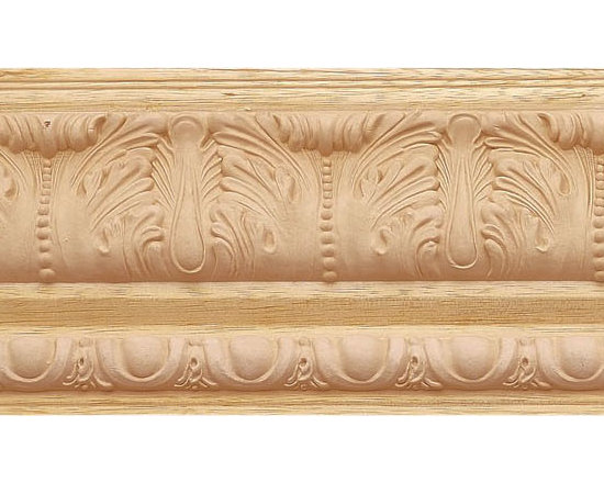 "Inviting Home - Maryland Crown Molding (medium) - wood crown molding 3-9/16""H x 3-1/16""P x 4-3/4""F sold in 8 foot length (3 piece minimum required) Decorative Bass wood crown molding specifications Outstanding quality crown molding profile milled from high grade kiln dried solid bass wood. High relief ornamental design crafted using fine grade stainable composition material. Crown molding sold unfinished and can be easily stained painted or glazed. The installation of the wood crown molding should be treated the same manner as you would treat any wood molding: all molding should be kept in a clean and dry environment away from excessive moisture. acclimate wooden moldings for 5-7 days. when installing wood crown moldings it is recommended to nail molding securely to studs and glue all mitered corners for maximum support."