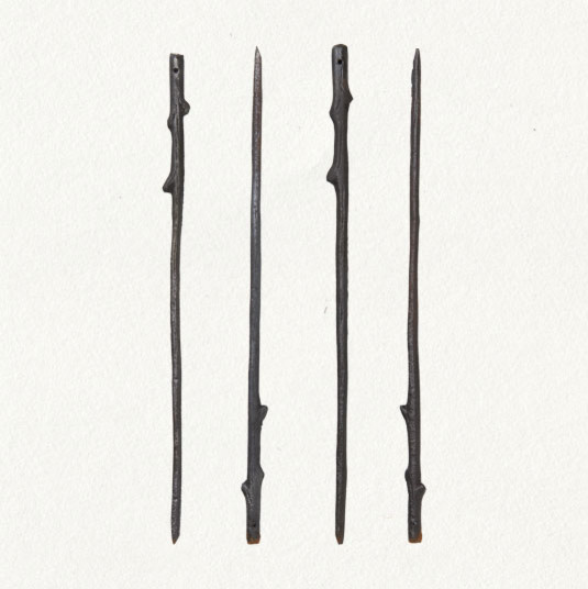 Cast Iron Twig Skewers eclectic outdoor products