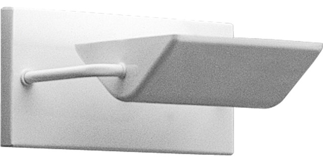 Progress Lighting P7109-30 1-Light Sconce with Metal Shade Borosilicate transitional-wall-lighting