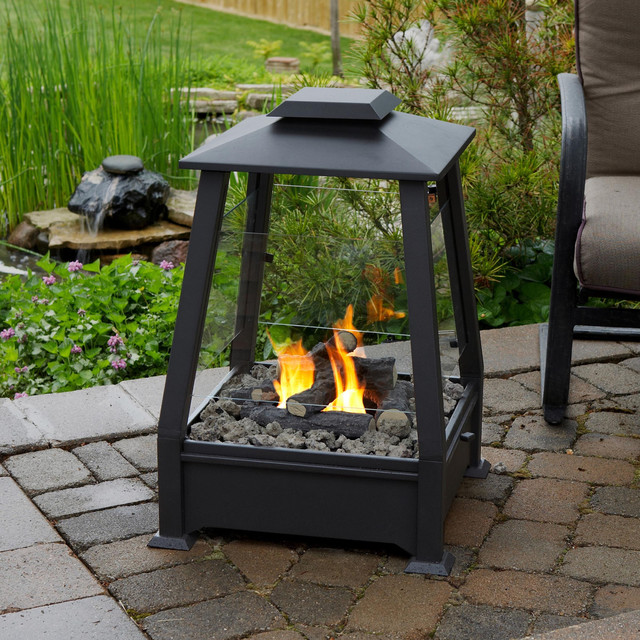 Real Flame - Sierra Outdoor Fireplace contemporary firepits