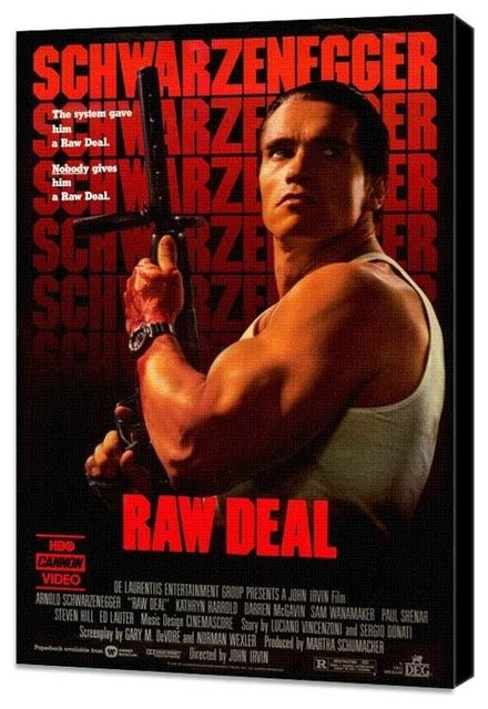 Raw Deal 27 x 40 Movie Poster - Style B - Museum Wrapped Canvas prints-and-posters