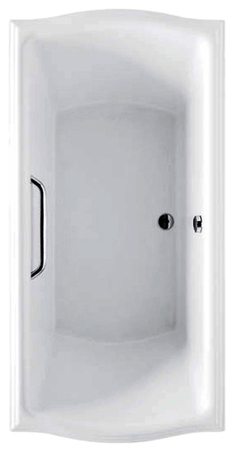 """Toto ABY785N Cotton White with Brushed Nickel Trim Clayton Soaker 66x34x24-3/4"""" transitional-bathtubs"""