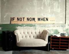 Large Motivational Wall Art, If Not Now When by Spacebarn contemporary artwork