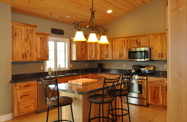 Country Style Rustic Hickory Farmhouse Kitchen Chicago By