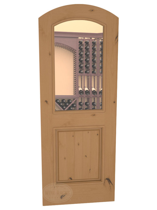 CellarSelect™ Wine Cellar Door: Malbec Half Lite (Oak Stain with Lacquer) -