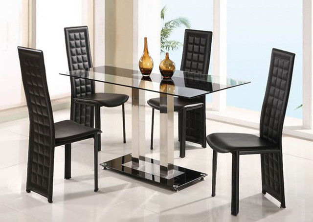 Overnice rectangular frosted glass top leather breakfast for Modern dining room chairs for sale