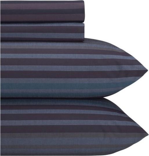 Dillan Indigo King Sheet Set modern-sheets