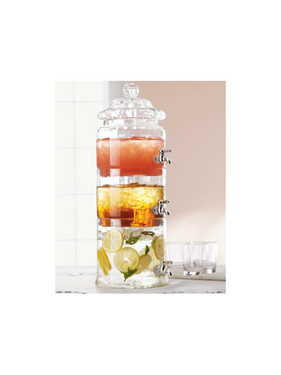 Stacked Optic-Glass Beverage Server - This beverage server is perfect. Because options are good, and so are pretty floating citrus slices.