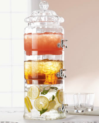 Stacked Optic-Glass Beverage Server traditional-serveware